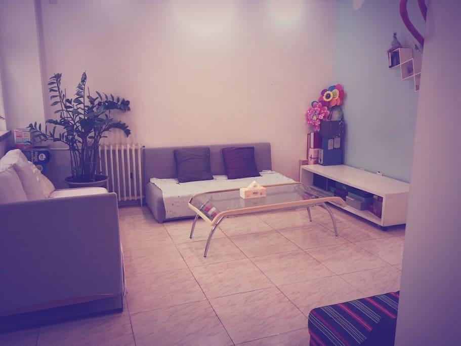 宽敞的客厅,南北通透,明亮整洁,清新舒适。Living room