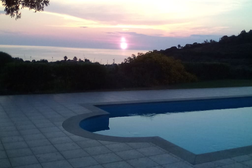 Wiew from the pool  at dawn