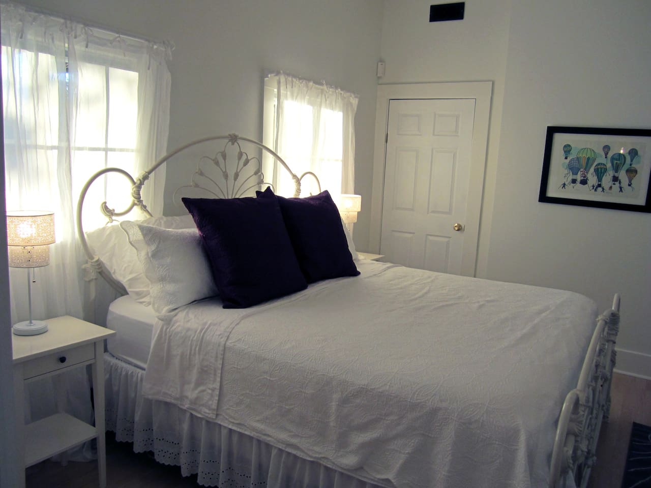 Your bedroom: Comfy king-sized bed