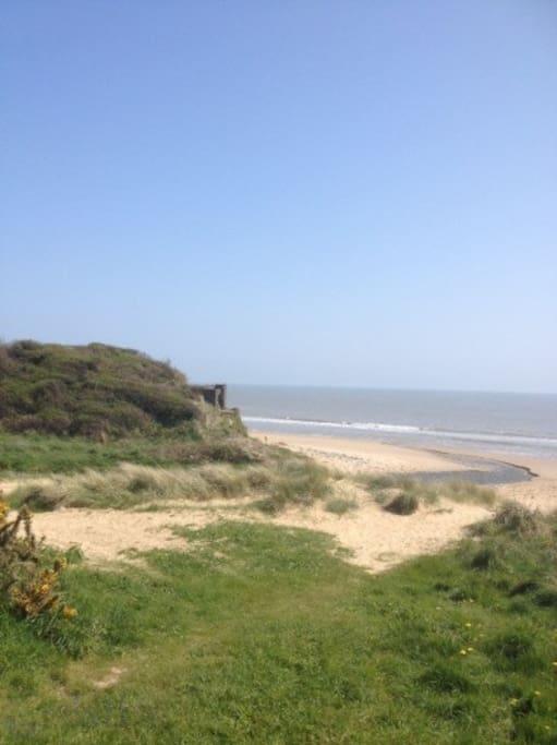 Tabberna beach, 50 metres walk from the
