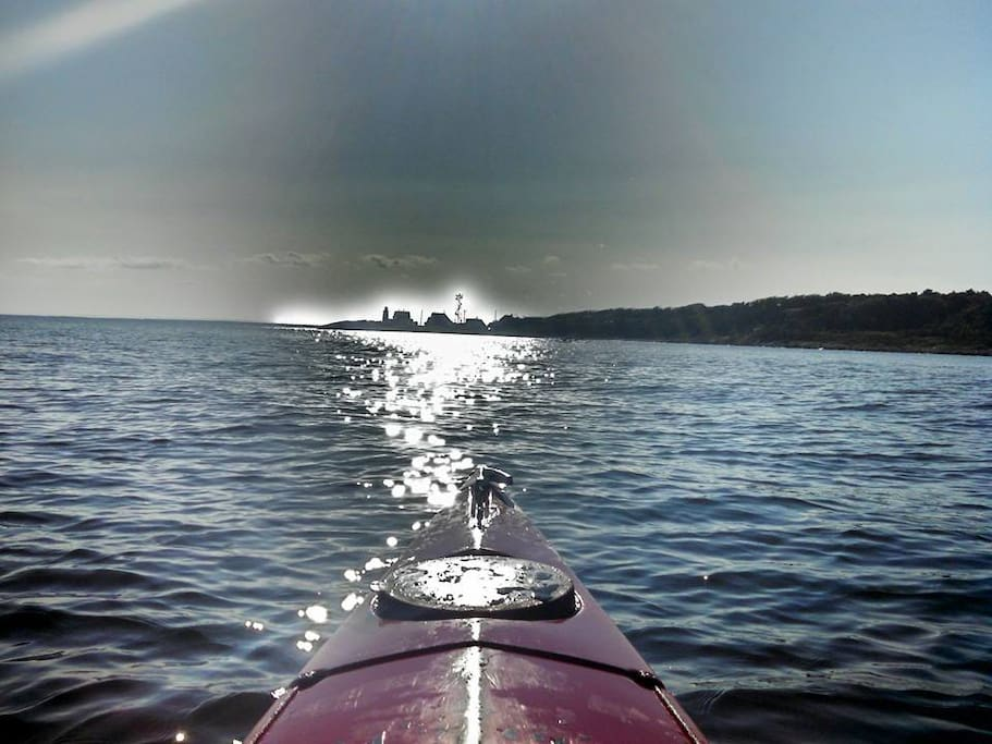 Day trip by kayak to Bassetts Island & Wings Neck Light House