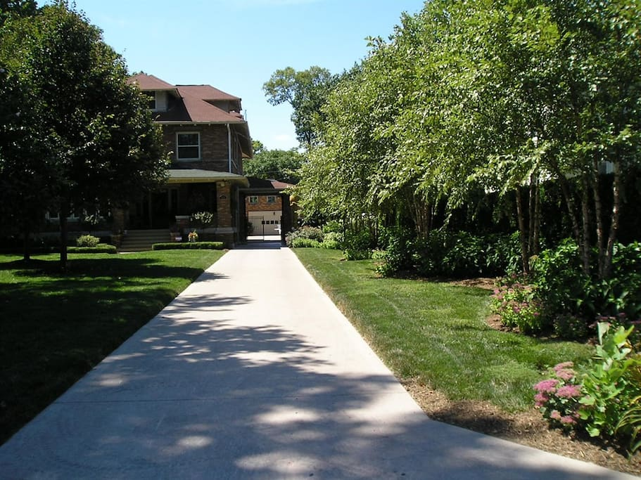 Long Private Driveway. Sits back off the street behind the Main Home