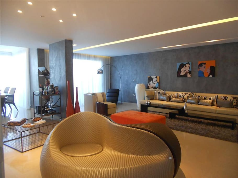 High-end signature furniture's and luxurious finishing