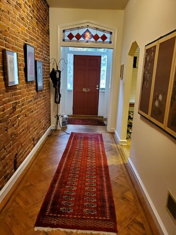 Exposed brick adds old world charm!