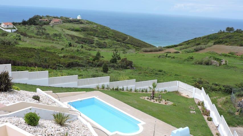 Casa Bingo - T1 - Nazaré- see view - pool - Famalicão - Apartment