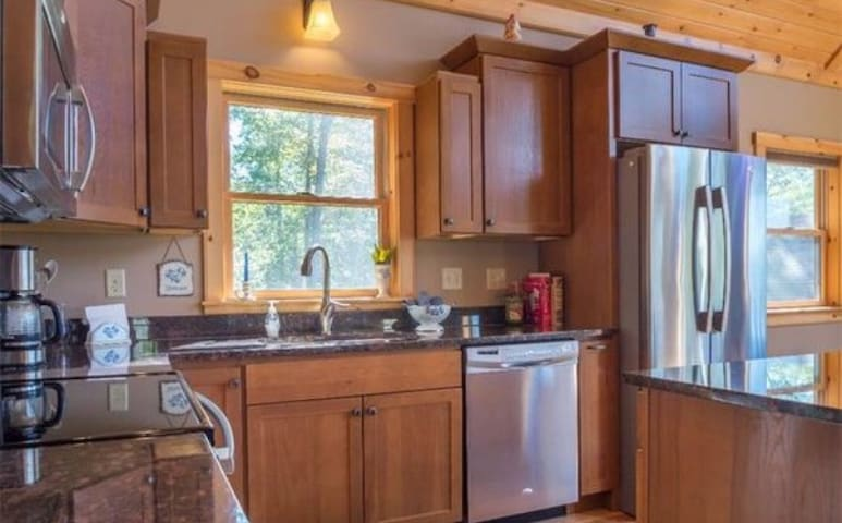 Modern, stainless steel appliances