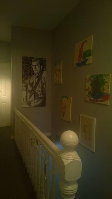 Upstairs hallway gallery