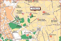 localisation, Dar el Bacha aera, 8 mn to Jamaa el Fna!