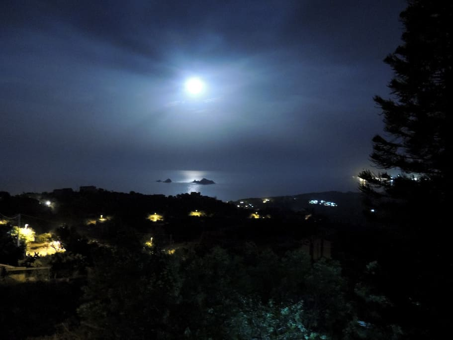 vista panoramica notturna