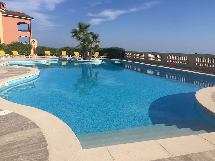 Heated swimming pool Open from 8 AM until 8 PM From May to October
