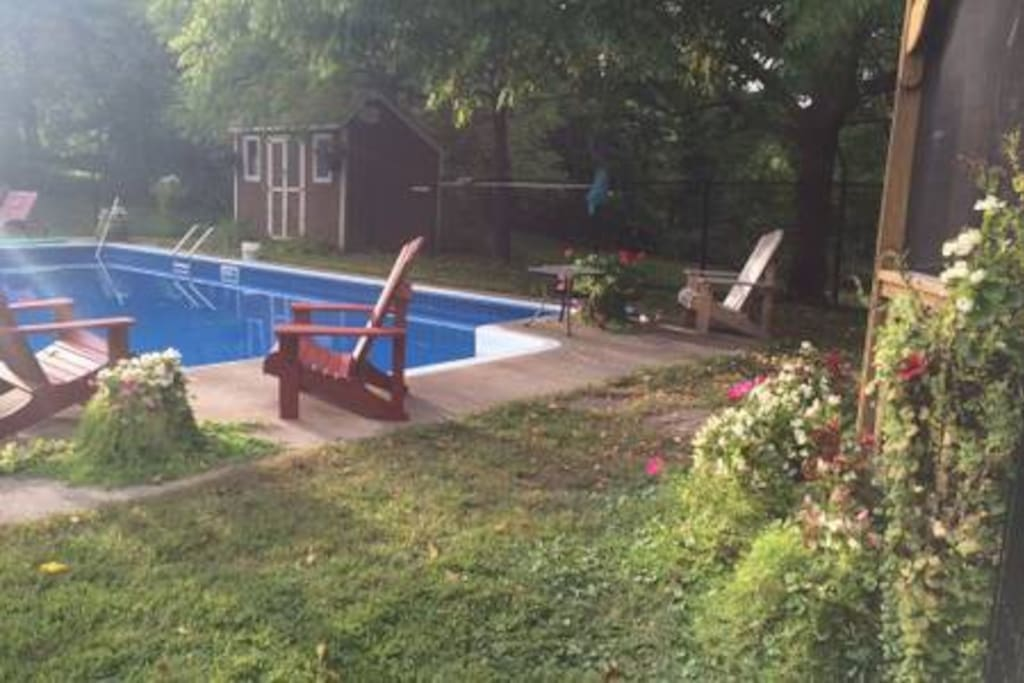 Pool and backyard are available to guests.  Please note **NO LIFEGUARD on duty.  Children should be supervised at all times.