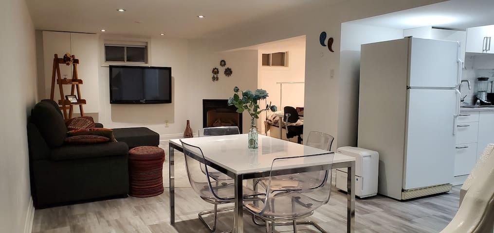 Bright basement apartment (private and separate)