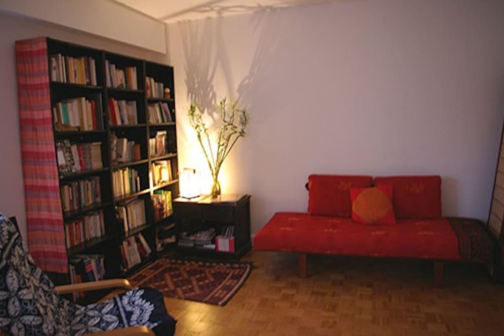 Cozy corner of living area