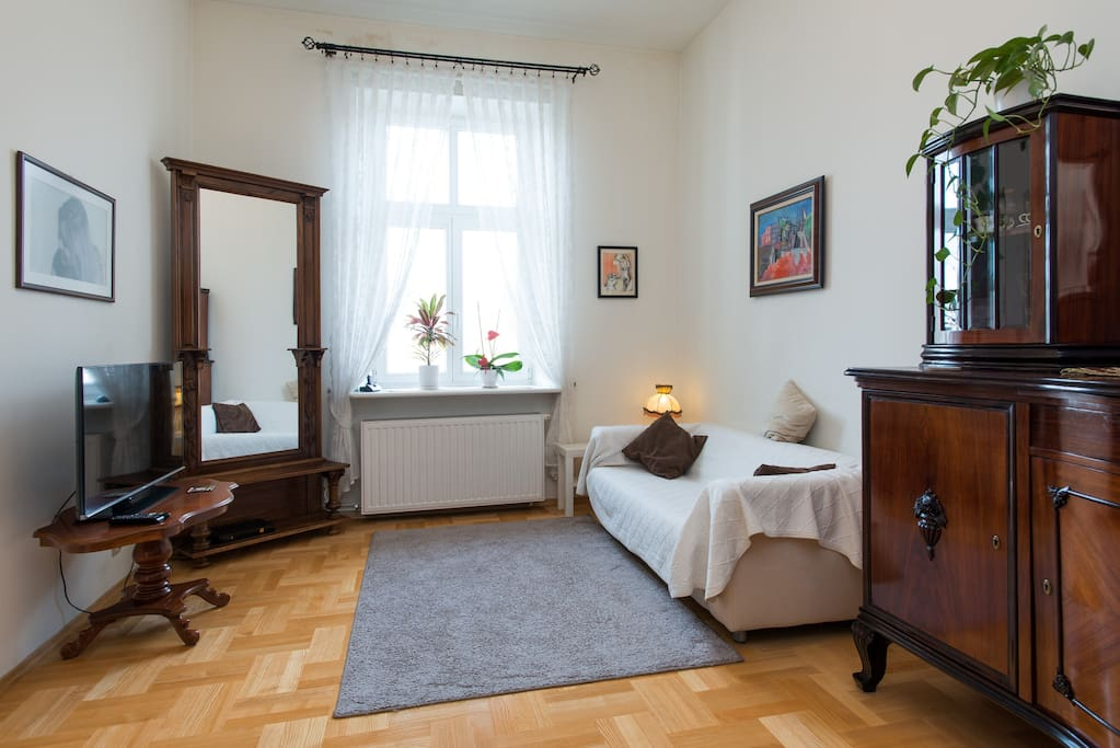 living room overlooking Plac Wolnica