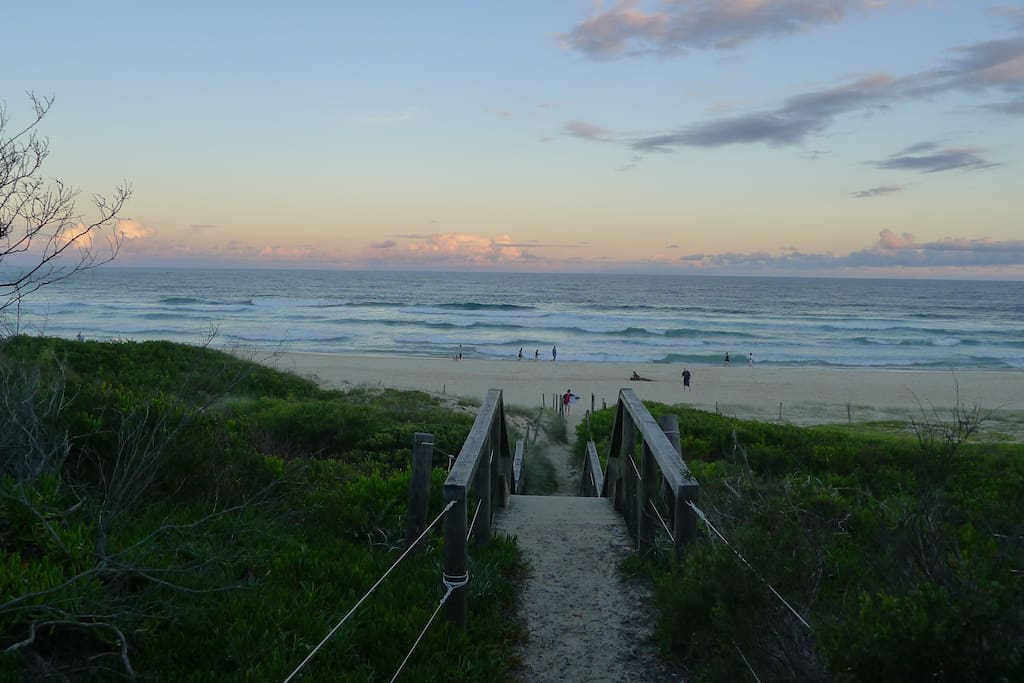 Just a 3 minute walk and you can access Boomerang Beach via this pathway