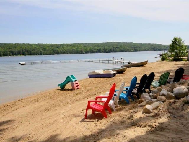 Intermediate Lake Cottage-230' Large Sandy Beach