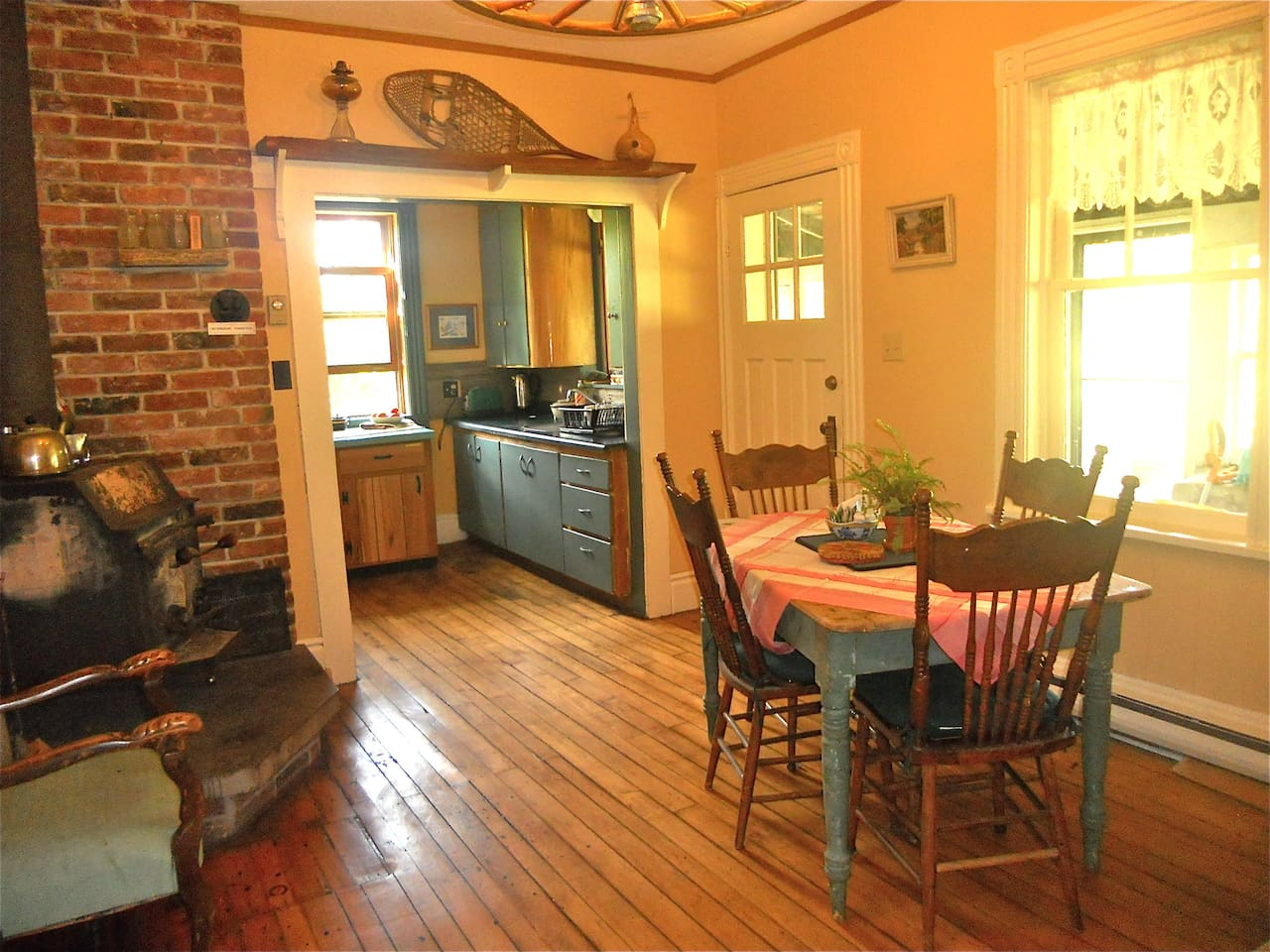 Enjoy your time in the Moore Homestead dining room.