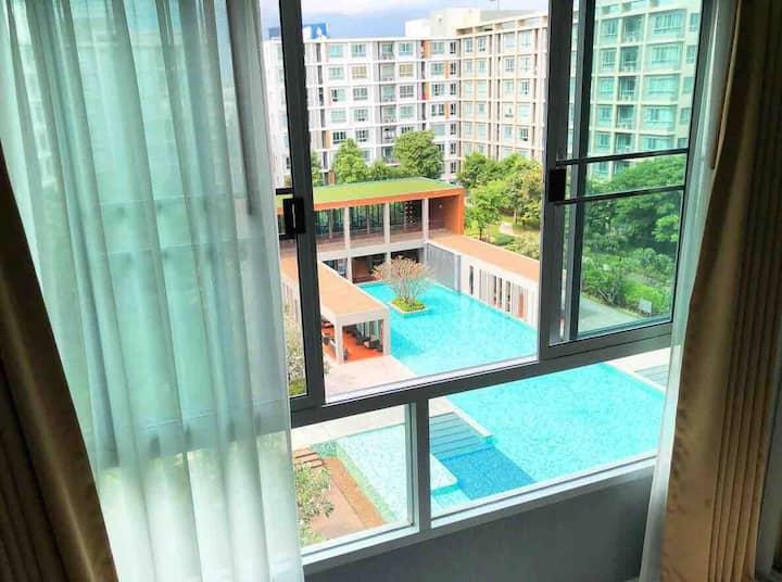 ❤❤❤ Wonderful view #豪华公寓 #크고 멋진 수영장 ❤❤❤