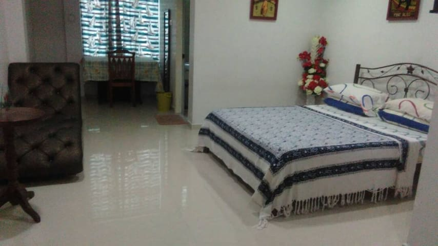 Large Air-Cond Room with Private Bath & Queen Bed