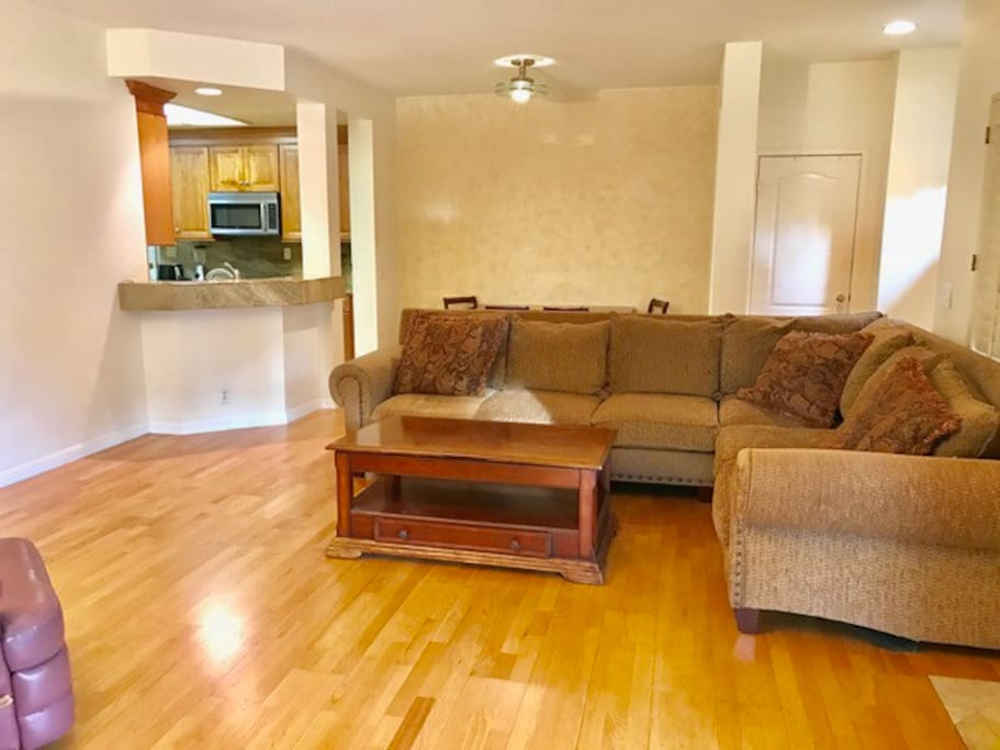 Nice big comfy couch in the living room