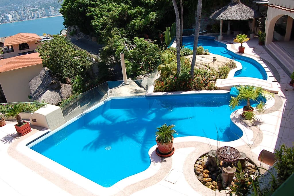 Pool from Upstairs Palapa