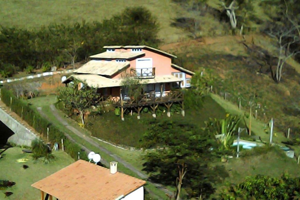 Vista aerea da casa