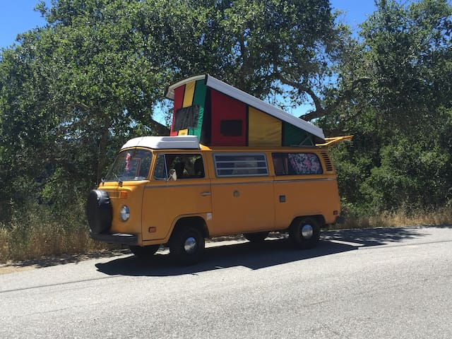 VW Bus, Westfalia w/ Rasta Pop Top!