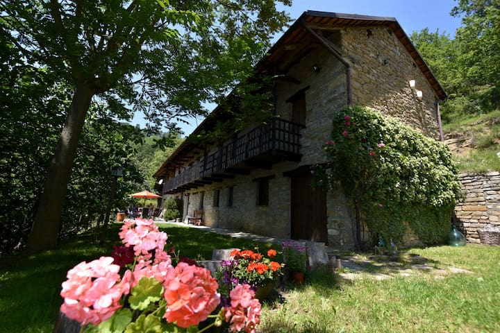 Discover Piemonte from this detached villa with private swimming pool in the village of Mombarcaro.