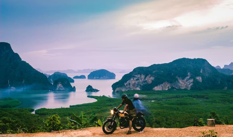 at Samet Nangshe viewpoint in Phang Nga