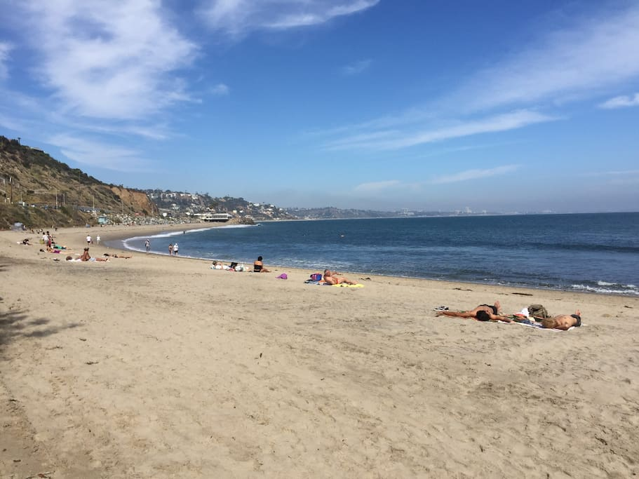 Topanga State Beach looking south to Santa Monica (located 5 miles form our home!)