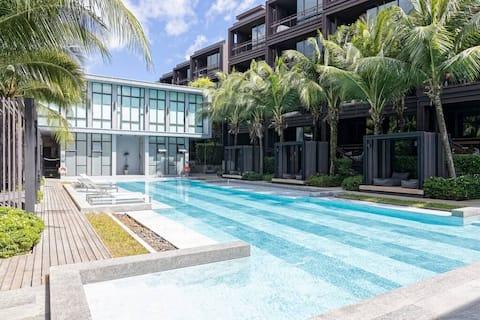 B4不额外收水电费全新豪华度假酒店公寓,泳池,阳台浴缸,卡塔拉威查龙,普吉大佛,健身房,海鲜市场