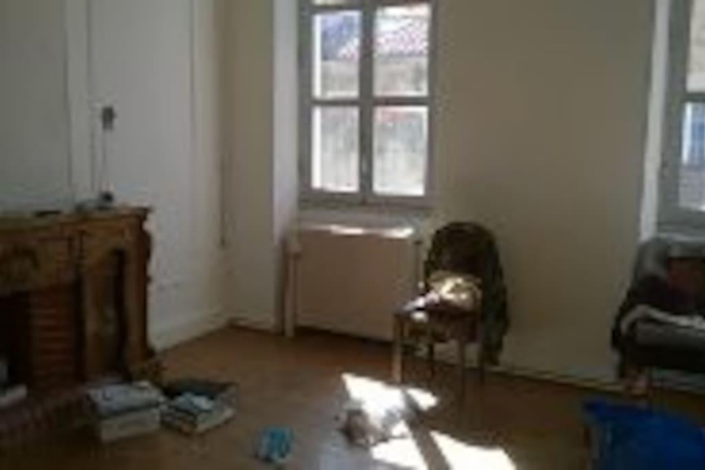 Chambre grande et lumineuse. Faites vos demandes par téléphone (0648012982).