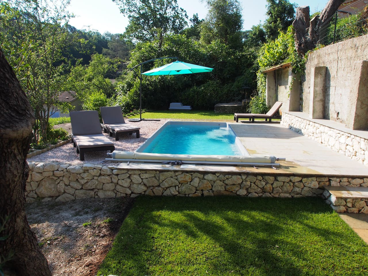 Zen Swimming Pool Area with Heated Water and Balneotheraphy Massage