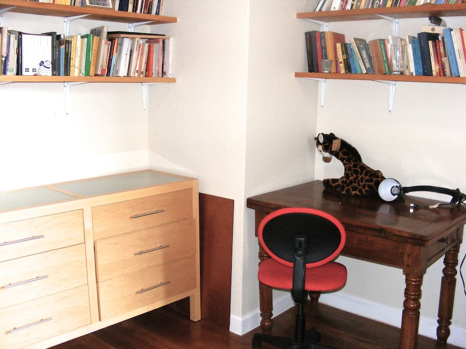 The desk in the Bedroom