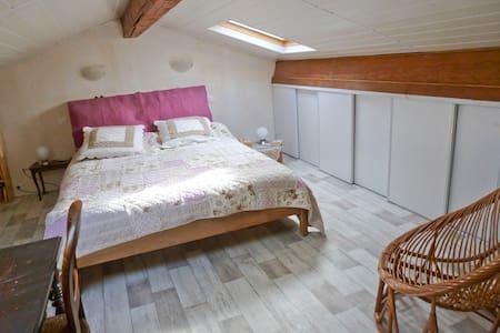Chambre privée - cuisine et sd'eau - Cézac - บ้าน