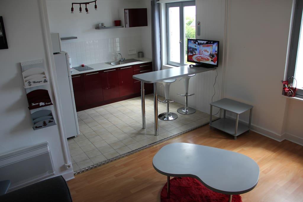 studio meubl et quip appartements en r sidence. Black Bedroom Furniture Sets. Home Design Ideas