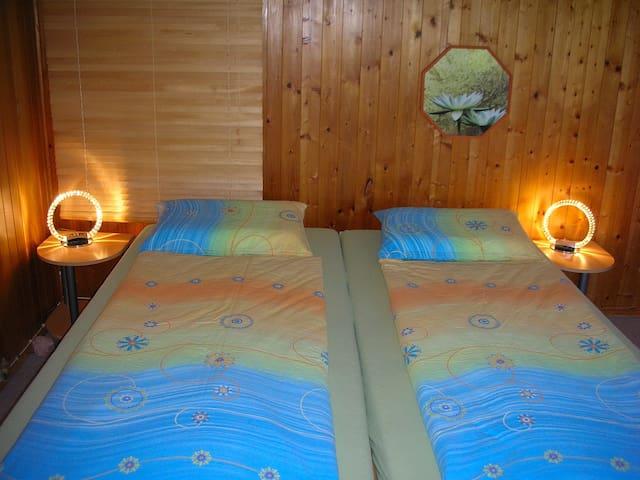 Schlafzimmer Apartment Mehlbaum 1. OG