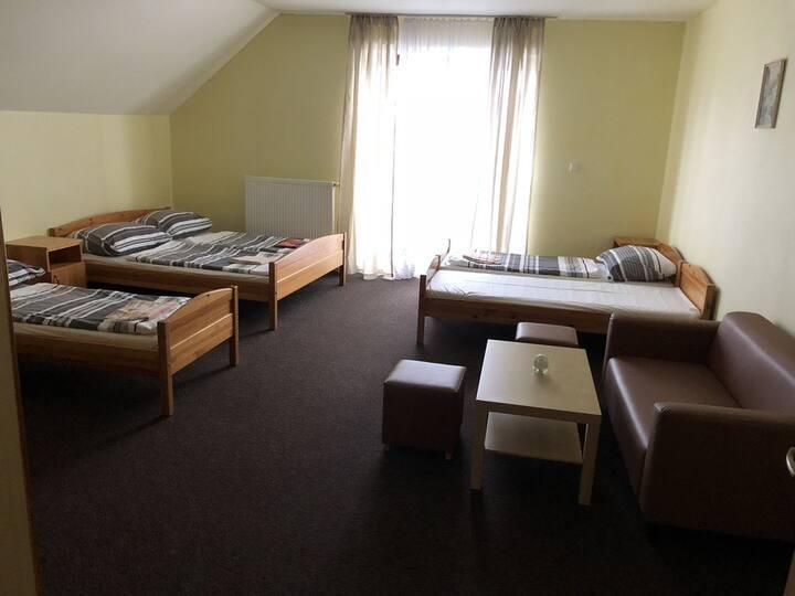 Rodinný pokoj pro 5 v penzionu Tetřívek
