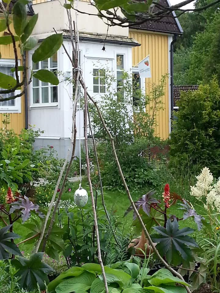 Hus från 30-talet med stor trädgård