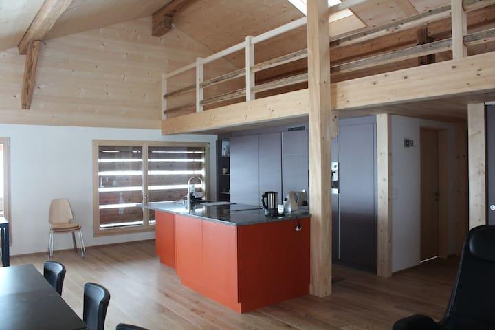 Ferienwohnungzweisimmen,Ökobau - Zweisimmen - Apartamento