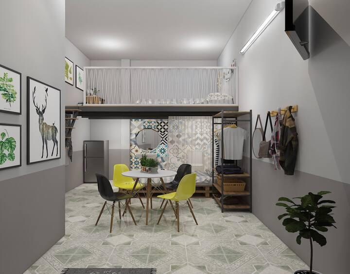 Le Conte Danang Homestay mezzanine room