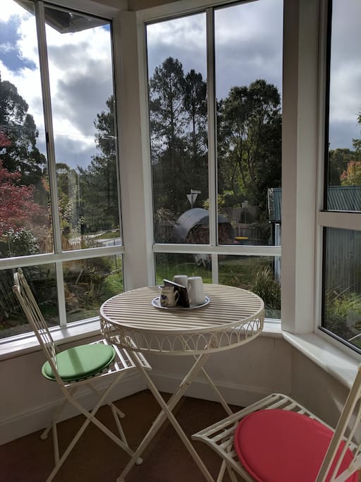 North facing sunroom, perfect for breakfast or sitting back and watching the clouds roll on by.