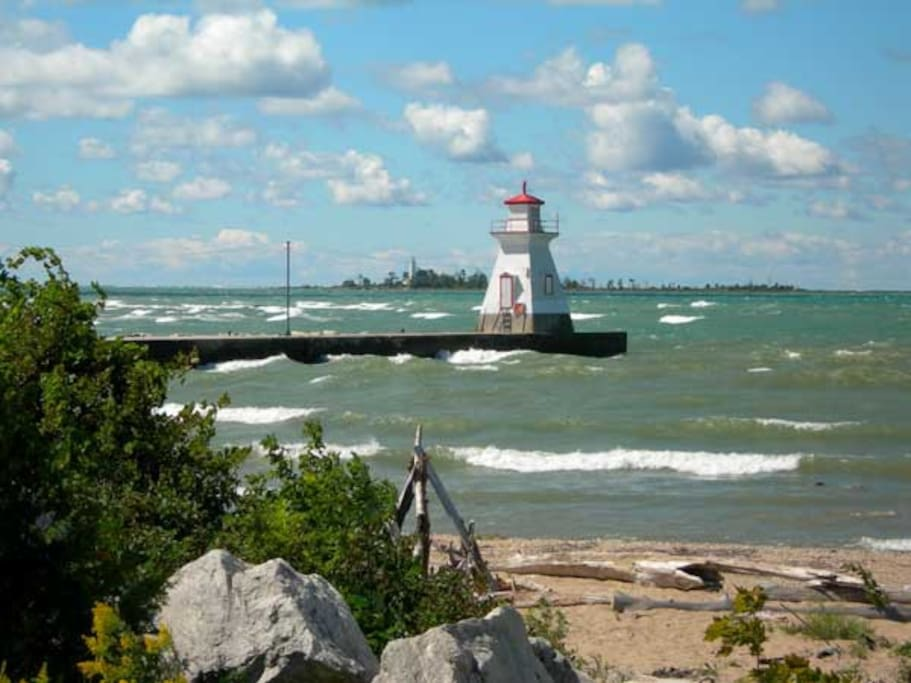 Mouth of Saugeen River and Lake Huron