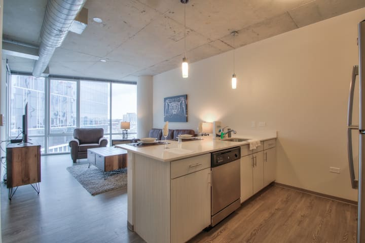 Luxury 1 bedroom right off Lower Broadway