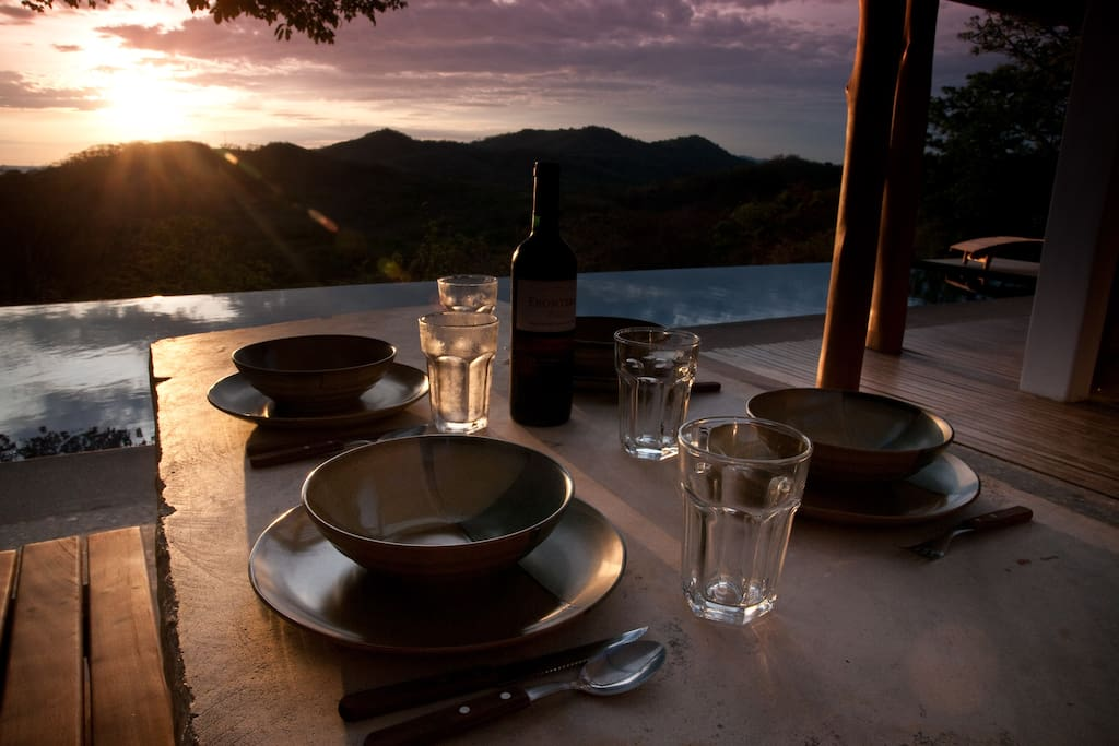 Enjoy the most incredible sunsets from your dinner table without having to leave the house