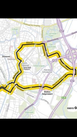 Route van de Tour de France. Komt langs de Biltstraat!