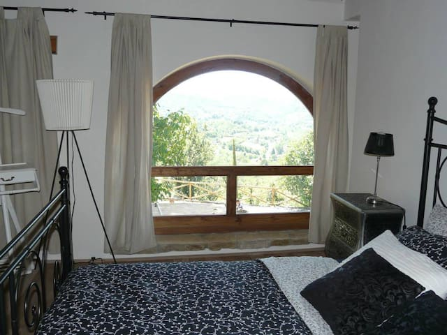 Bedroom with view.