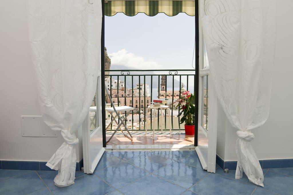 Veduta di Atrani da Casa Mika