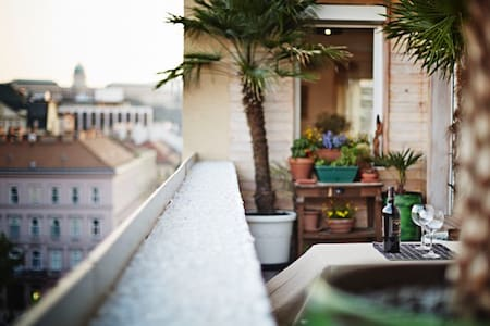 Center,20m2 terrace, incredible view and amenities - Budapest