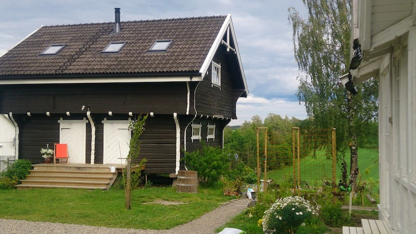 Old timbered house between Oslo and the airport
